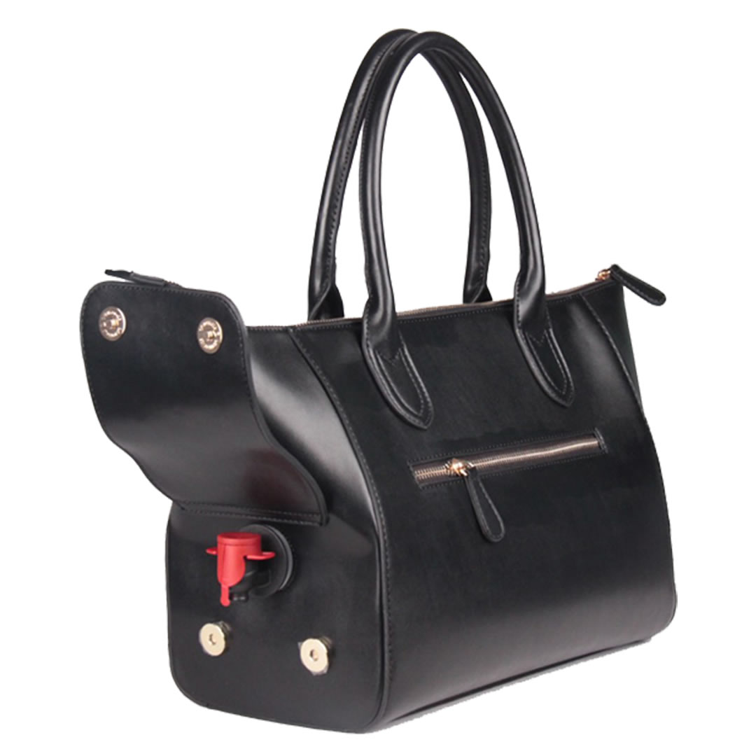 A tote bag is a large and often unfastened bag with parallel handles that emerge from the sides of its pouch.